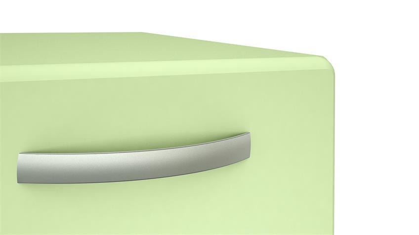 Kommode 1 ROUND in grün mit 2 Türen 2 Schubkästen