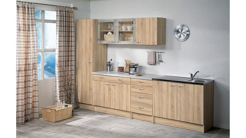 Schrank CASSY 45513 in Eiche Struktur mit Spülbecken Küche