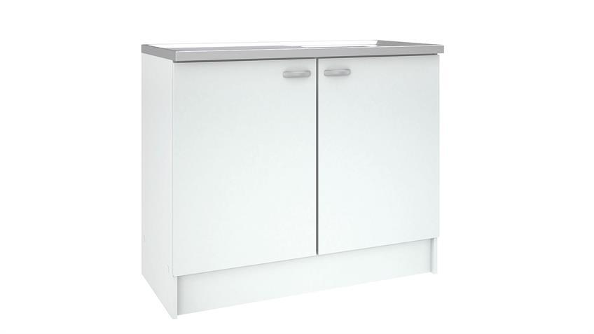 Schrank CASSY 45513 in weiß mit Spülbecken Küche