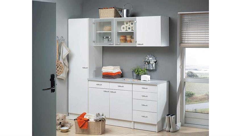 Schrank CASSY Küchenschrank 45521 in weiß Küche