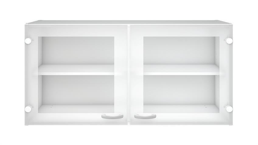 Oberschrank CASSY Schrank 45518 weiß Glas Küche