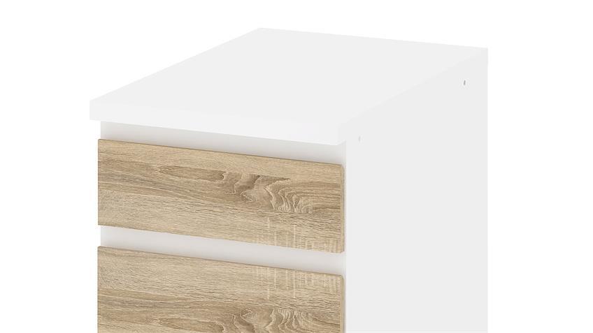 Schrank IKUU 83403 in weiß und Eiche Struktur Küche