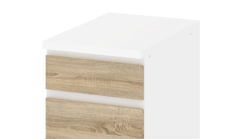 Schrank IKUU 83404 in weiß und Eiche Struktur Küche