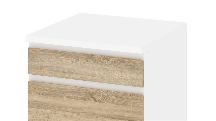 Schrank IKUU 83405 in weiß und Eiche Struktur Küche