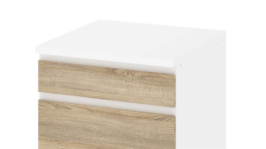 Schrank IKUU 83406 in weiß und Eiche Struktur Küche