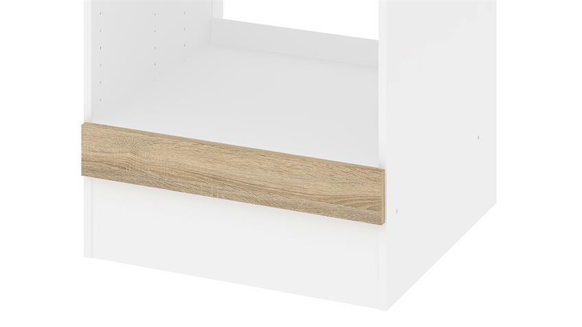 Schrank IKUU 83407 in weiß und Eiche Struktur Küche