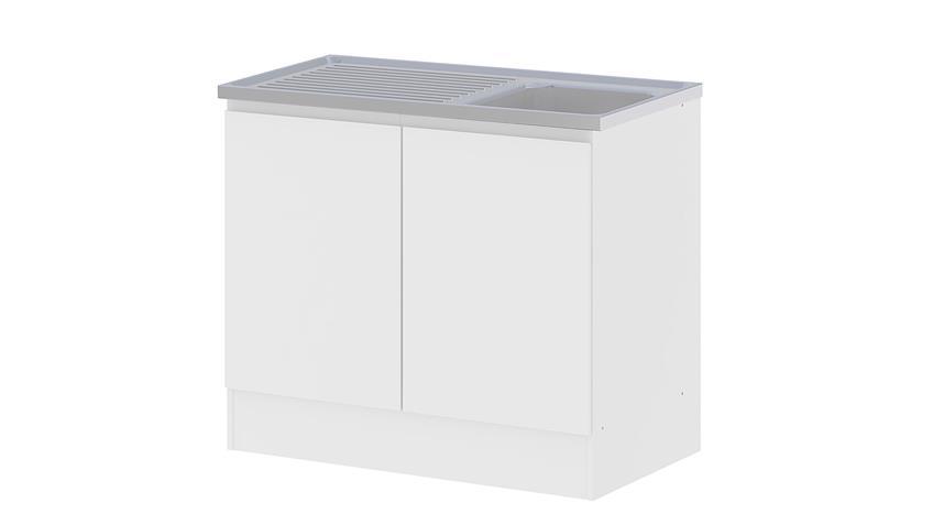 Schrank IKUU 83409 Küchenschrank in weiß Küche