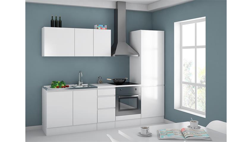 Schrank IKUU 83417 Aufbewahrungsschrank in weiß Küche