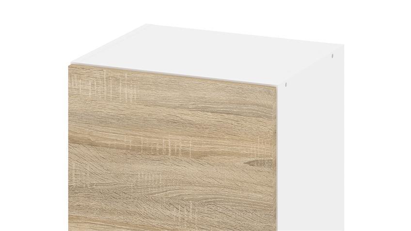 Hängeschrank IKUU 83418 in weiß und Eiche Struktur Küche