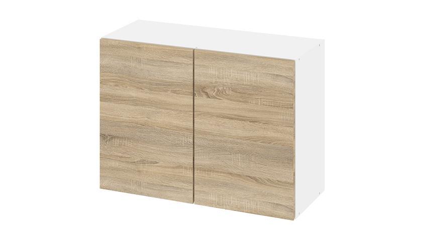 Hängeschrank IKUU 83421 in weiß und Eiche Struktur Küche