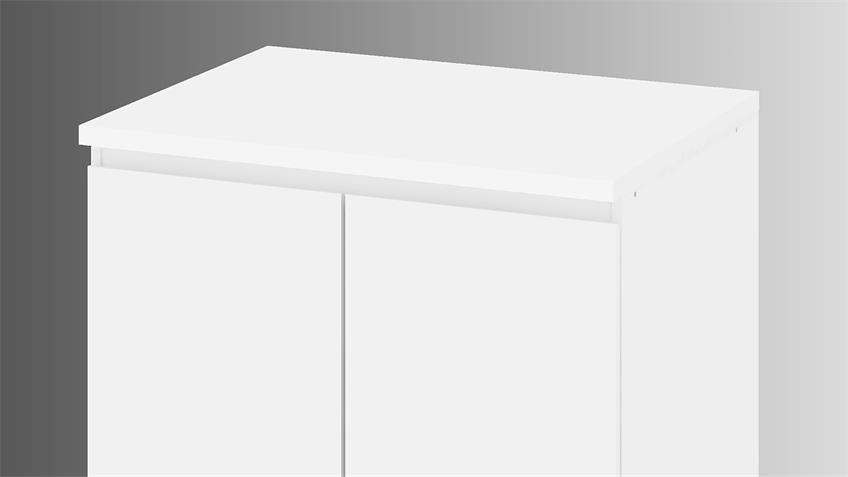 Schrank IKUU 83423 Stauraumschrank in weiß Küche