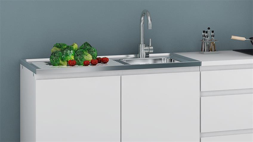 Küchenzeile IKUU Kombi 83400 03 in weiß 7-teilig