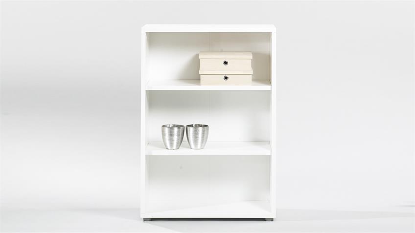Regalkombi BOKKA Bücherregal in weiß inkl. Schubkästen