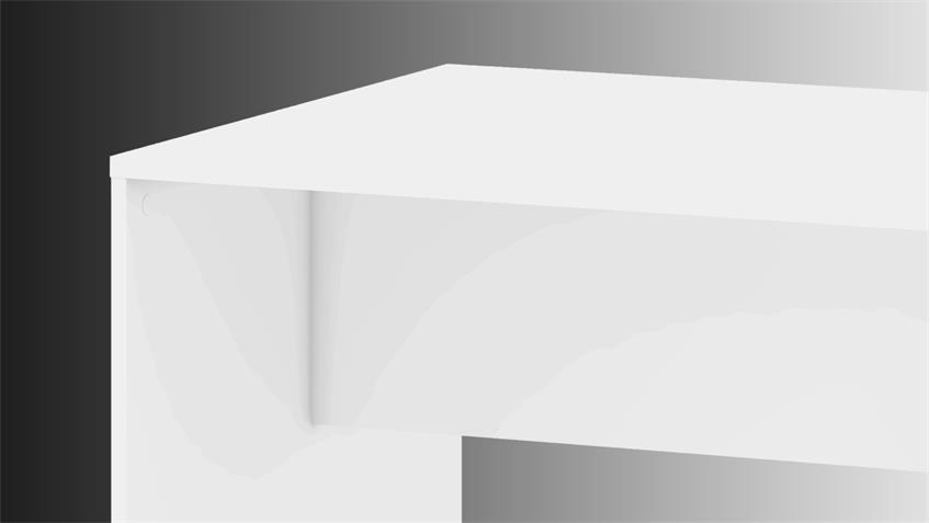 Schreibtisch KINECT Bürotisch in weiß 120x80 cm