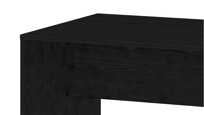 Schreibtisch KINECT Bürotisch in Esche schwarz 120x80 cm