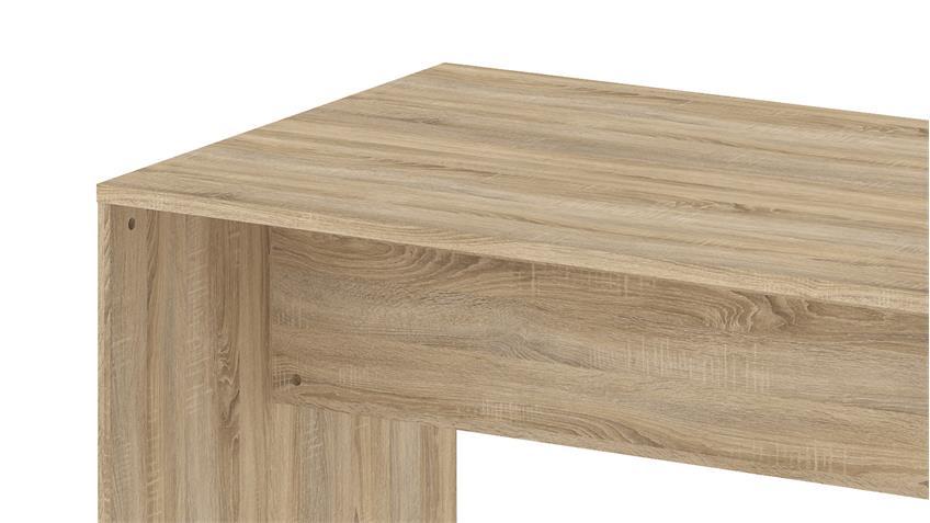 Schreibtisch KINECT Bürotisch in Eiche Struktur 160x80 cm