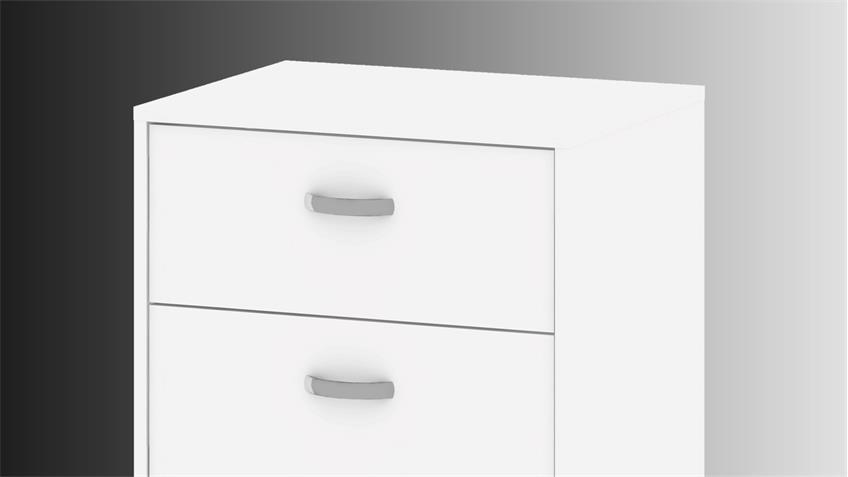 Rollcontainer KINECT in weiß mit 3 Schubkästen