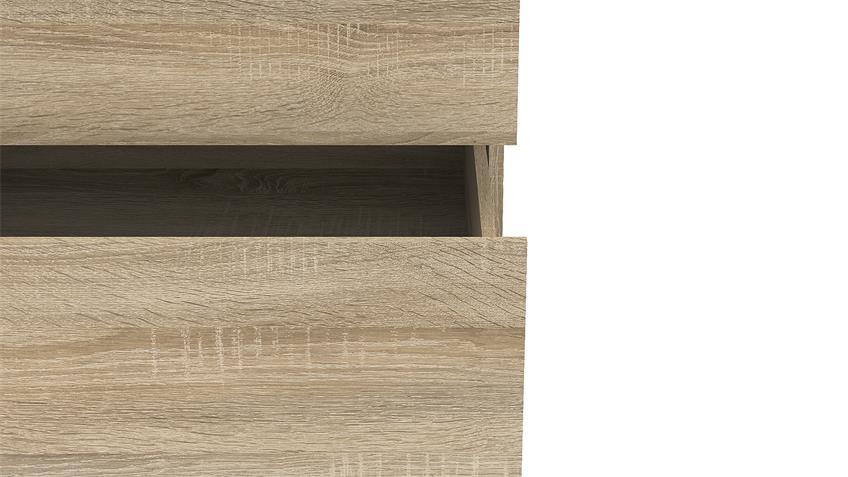 Sideboard NOWA Anrichte Eiche Struktur mit 6 Schubkästen