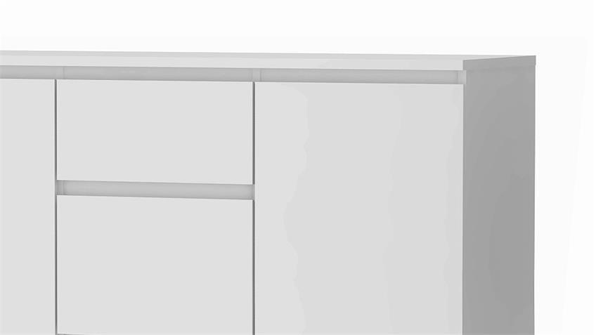 Sideboard NOWA Anrichte in weiß mit 3 Schubkästen