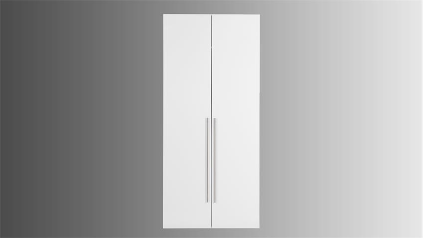 Kleiderschrank MANA in weiß Hochglanz mit 2 Türen 99 cm