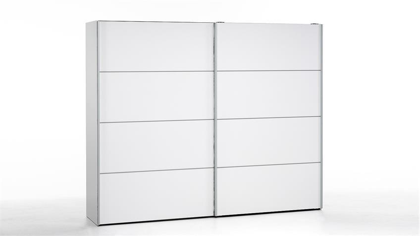 Schwebetürenschrank VERONA Schrank in weiß 243 cm
