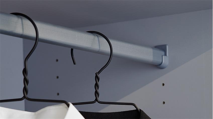 Kleiderschrank SAVE Drehtürenschrank in weiß 99 cm