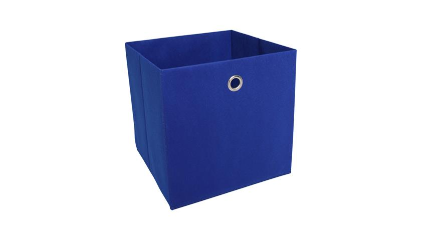 Faltbox KUBUS 1 Regalkorb blau für Raumteiler