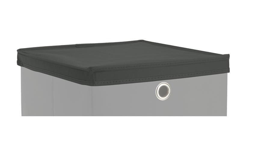 Faltbox Deckel KUBUS für Boxen mit 32x32 cm in anthrazit