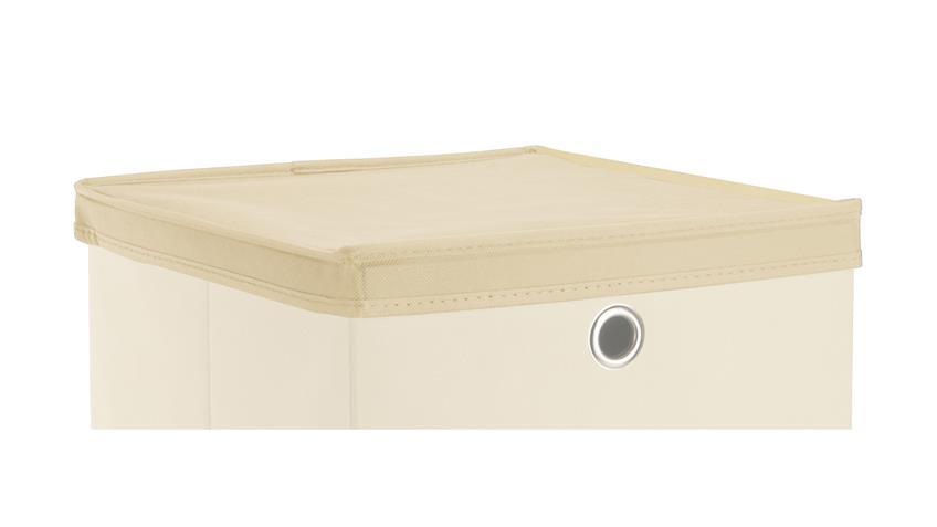 Faltbox Deckel KUBUS für Boxen mit 32x32 cm in natur