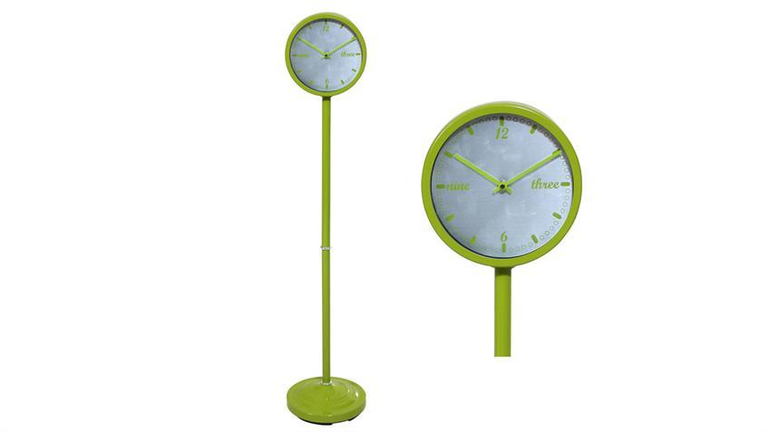 Standuhr Metall in grün Uhr Höhe 120 cm d= 22 cm