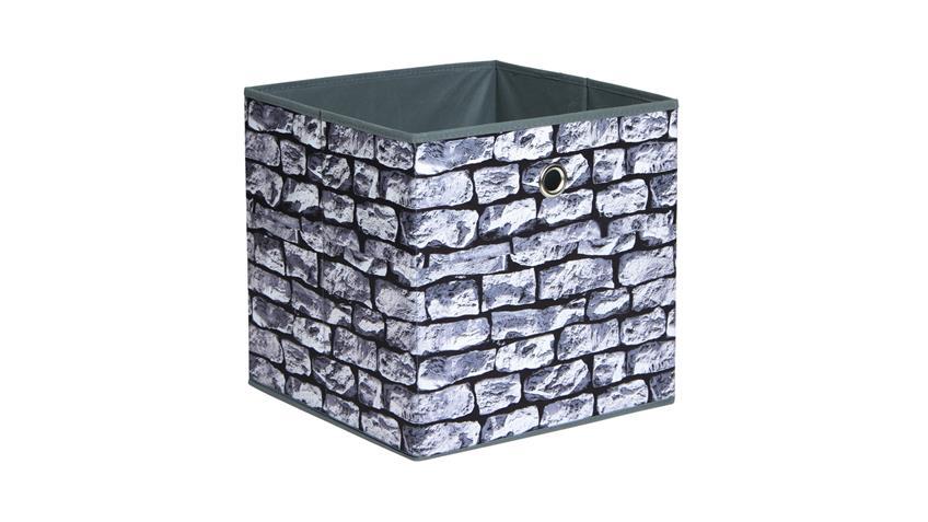Faltbox KUBUS Wall Regalkorb in Steinoptik für Raumteiler