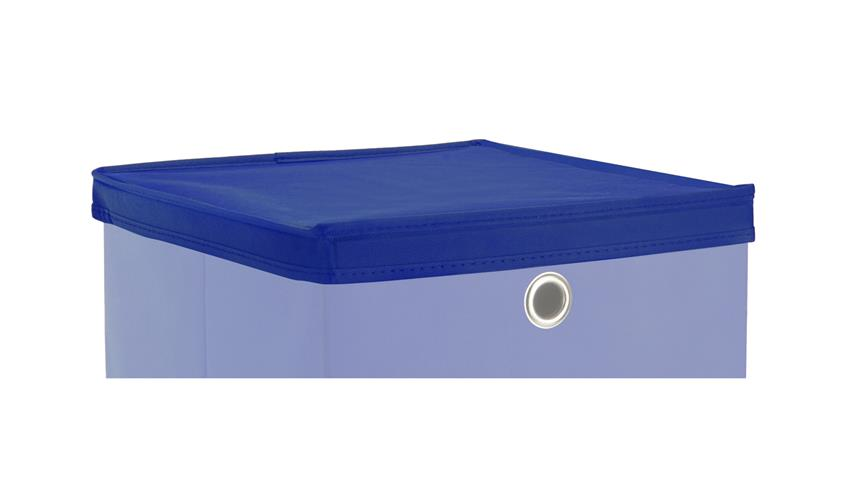Faltbox KUBUS Set mit Deckel Regalkorb blau Raumteiler