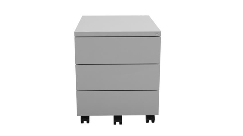 Rollcontainer Z-Line Metall weiß 3 Schubkästen abschließbar