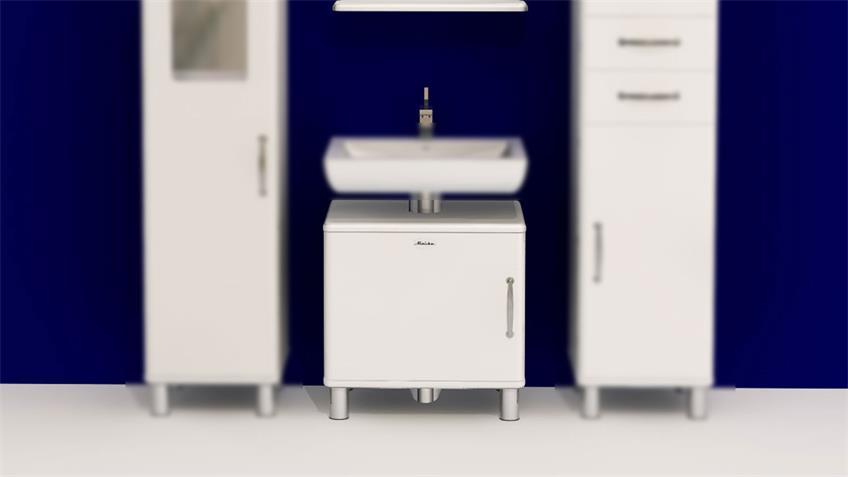 Waschbeckenunterschrank Malibu in weiß Lack von Tenzo