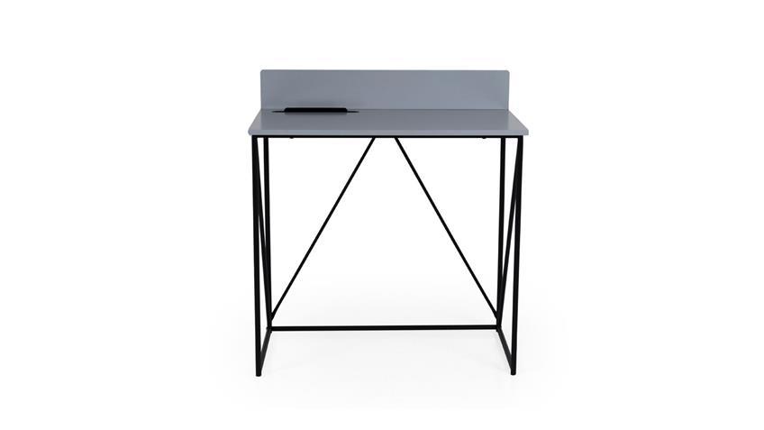 Schreibtisch TELL grau schwarz Tablett Einsatz von Tenzo