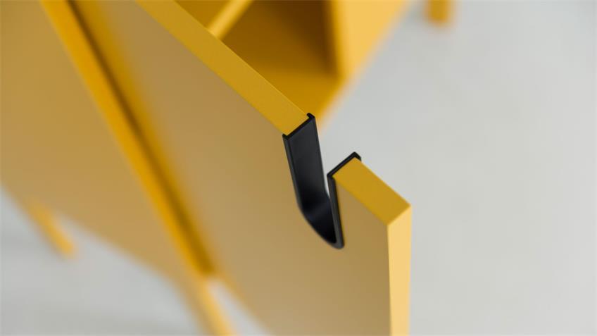 TV-Board UNO Lowboard Senf gelb lackiert Tenzo 137x50 cm