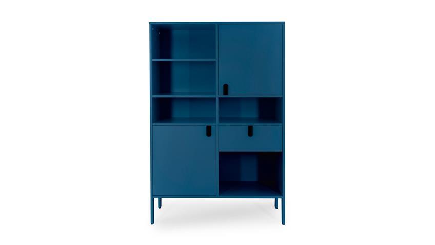Highboard UNO Buffet Petrol blau lackiert Tenzo 109x176