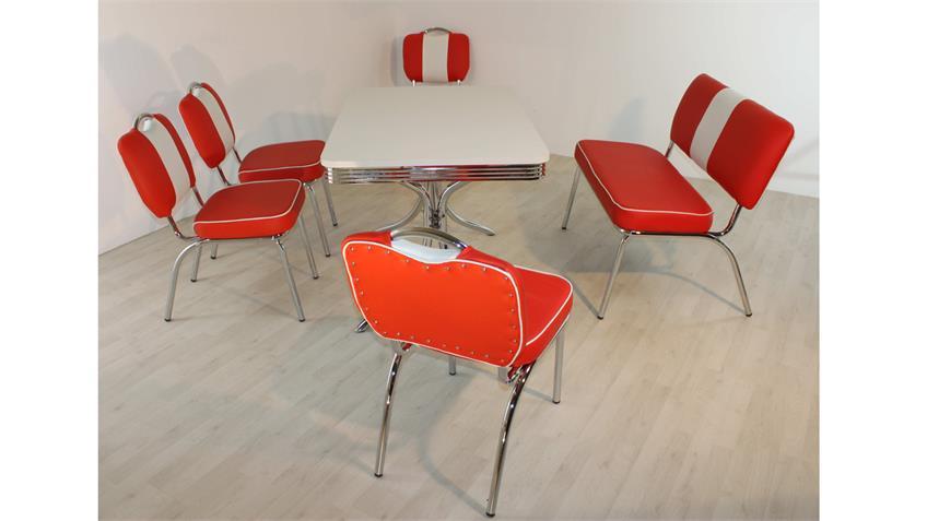 Essgruppe ELVIS 4 Tischgruppe American Diner 50er Jahre rot
