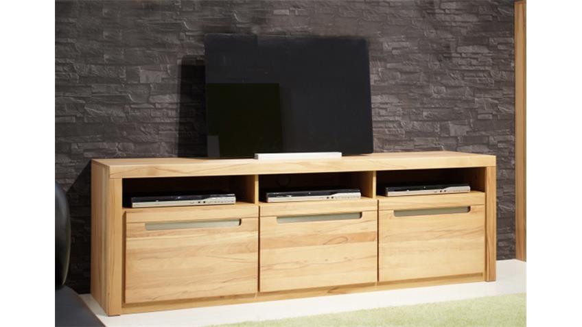 TV-Board ZINO Kern-Buche massiv Lamellen
