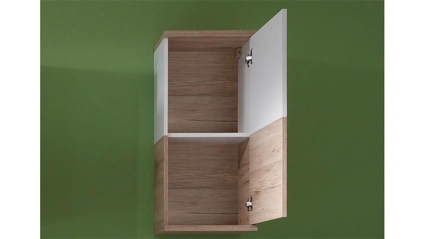 bad h ngeschrank campus san remo eiche und wei. Black Bedroom Furniture Sets. Home Design Ideas