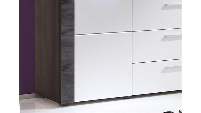 Sideboard XPRESS Esche grau weiß inkl. Beleuchtung
