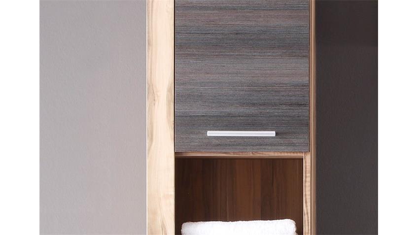 Hochschrank Badezimmer CANCUN Nussbaum Satin braun Touchwood