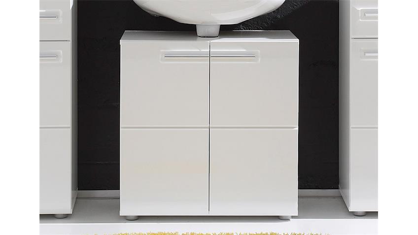 Waschbeckenschrank BORA weiß Front Hochglanz