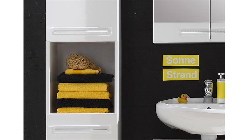 Badezimmerset BORA 5-teilig weiß Front Hochglanz