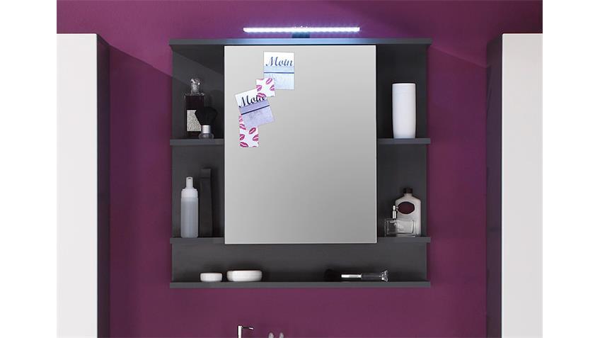 Spiegelschrank TETIS Schrank Bad Spiegel Badmöbel in Graphit