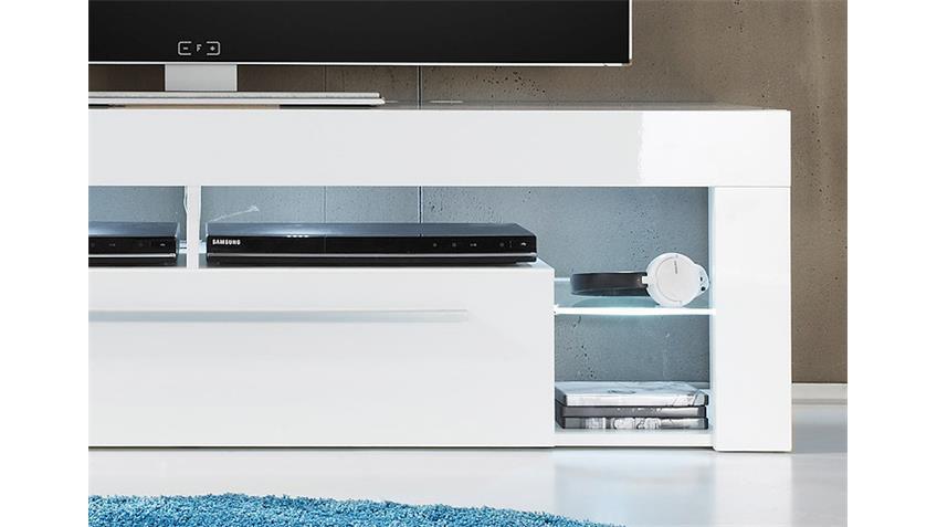 Lowboard SCORE TV Board in weiß hochglanz Dekor 153 cm