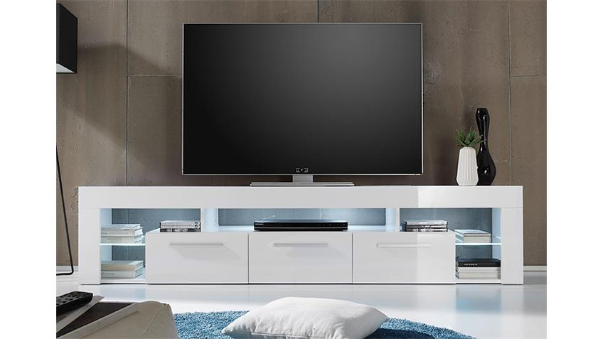 lowboard score kommode tv board in wei hochglanz 200 cm. Black Bedroom Furniture Sets. Home Design Ideas