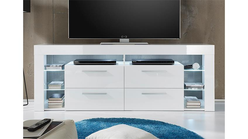 TV Board SCORE TV Unterteil in weiß Hochglanz Breite 179 cm