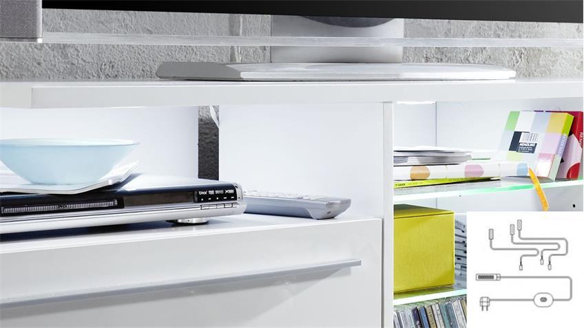 Unterbauspot Beleuchtung LED kalt-weiß 3er Set