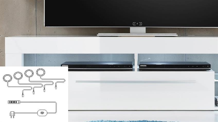 Unterbauspot Beleuchtung LED weiß 4er Set